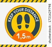 floor sticker round keep a... | Shutterstock .eps vector #1721629798