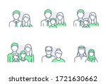 people avatar flat icons.... | Shutterstock .eps vector #1721630662