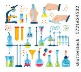 chemistry laboratory icon set...   Shutterstock .eps vector #1721634532