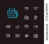 musical icons set. music folder ...