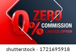 0  zero commission special... | Shutterstock .eps vector #1721695918