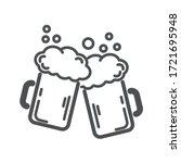 two mugs of beer. vector ... | Shutterstock .eps vector #1721695948