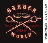 vector badge for barber shop... | Shutterstock .eps vector #1721710525