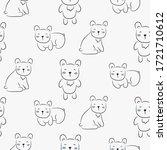 polar bear cute seamless doodle ... | Shutterstock .eps vector #1721710612