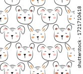 polar bear cute seamless doodle ... | Shutterstock .eps vector #1721710618