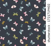beautiful seamless pattern with ... | Shutterstock . vector #1721719402