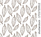 seamless cacao beans ink... | Shutterstock . vector #1721723512