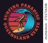 color illustration of a surfer... | Shutterstock .eps vector #1721726248