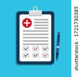 medic plan. medical test of... | Shutterstock .eps vector #1721730385