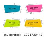 modern banners with geometric... | Shutterstock .eps vector #1721730442