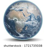 blue planet earth with... | Shutterstock .eps vector #1721735038
