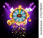 vector illustration spinning...   Shutterstock .eps vector #1721738335