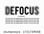font design with focused and... | Shutterstock .eps vector #1721739058