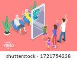 3d isometric flat vector... | Shutterstock .eps vector #1721754238