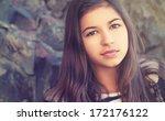 Face Of Beauty Teenage Girl...