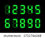 electronic numbers. digital... | Shutterstock .eps vector #1721766268