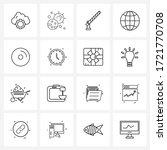 16 editable vector line icons... | Shutterstock .eps vector #1721770708