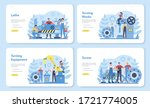 turner or lathe web banner or... | Shutterstock .eps vector #1721774005