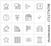 set of 16 ui icons and symbols...