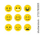 yellow emoji face set. concept... | Shutterstock .eps vector #1721783305