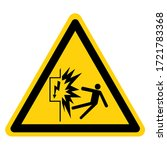warning contact with... | Shutterstock .eps vector #1721783368