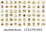 classic style crowns and stars... | Shutterstock .eps vector #1721791492
