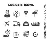 logistic icons  mono vector...