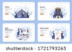 waiter web banner or landing...   Shutterstock .eps vector #1721793265