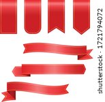 price tags  red ribbon banners. ... | Shutterstock .eps vector #1721794072