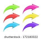 set of colorful arrows on white ... | Shutterstock . vector #172183322