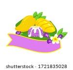 logo thai dessert mango  with... | Shutterstock .eps vector #1721835028