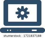 laptop settings icon. computer...