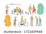 old people in park vector... | Shutterstock .eps vector #1721839468