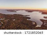 Aerial Drone Evening View Of...