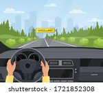 driving car safety concept... | Shutterstock .eps vector #1721852308