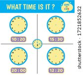 Worksheet Children Clock. What...