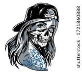vintage chicano gangster girl... | Shutterstock . vector #1721860888