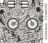 bicycles. seamless pattern of... | Shutterstock .eps vector #1721863762