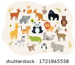 Big Set Of Cute Forest Animals...