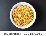 Topview Of Instant Noodles In...