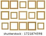 big set of squared vintage ... | Shutterstock .eps vector #1721874598