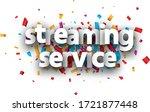 vector streaming service sign... | Shutterstock .eps vector #1721877448