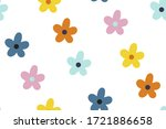 ditsy floral background.... | Shutterstock .eps vector #1721886658