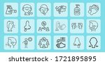 tissue line icon set on theme... | Shutterstock .eps vector #1721895895