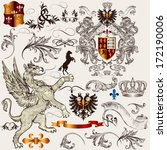 vector set of luxury royal... | Shutterstock .eps vector #172190006