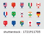 world flags 3d square label... | Shutterstock .eps vector #1721911705