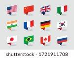 world flags 3d folded paper... | Shutterstock .eps vector #1721911708