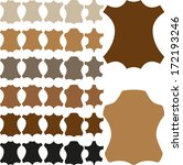 leather sign in different... | Shutterstock .eps vector #172193246