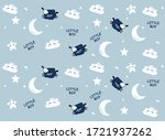 vector  pattern with cute sheep ...   Shutterstock .eps vector #1721937262