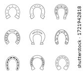horseshoe icon vector set. luck ... | Shutterstock .eps vector #1721942818